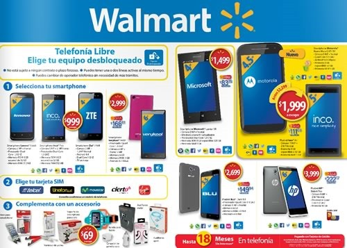 smartphones desbloqueados walmart abril mayo 2015