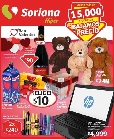 soriana hiper folleto ofertas al 12 de febrero 2015