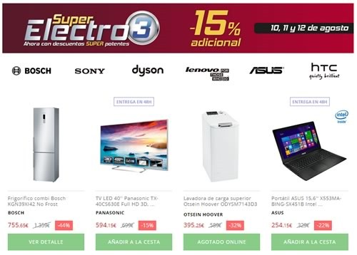 super electro 3 10 11 12 agosto 2015 el corte ingles