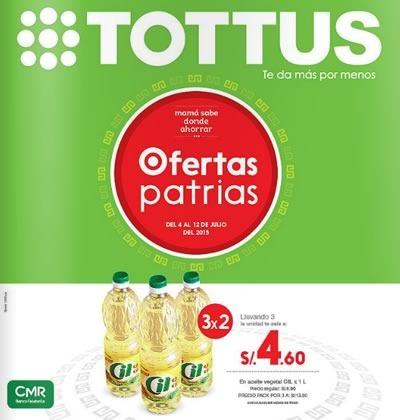 supermercado tottus catalogo ofertas patrias 2015