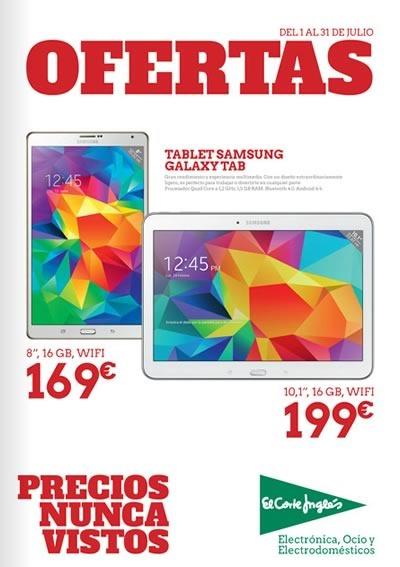 tablets baratas en el corte ingles catalogo online julio 2015 espana