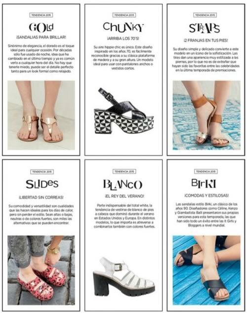 tendencia moda sandalias 2015 catalogo sandalias falabella chile - detalle