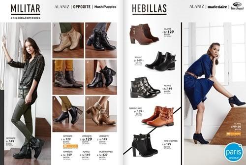 tiendas paris catalogo botas 2016