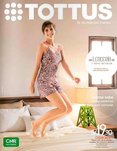 tottus catalogo digital lenceria ropa interior noviembre 2014 peru