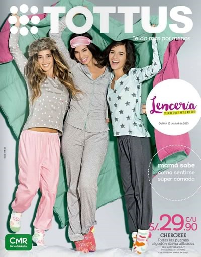 tottus catalogo ofertas lenceria ropa interior abril 2015
