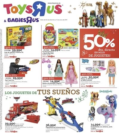 toys r us babies r us reyes magos 2018 espana