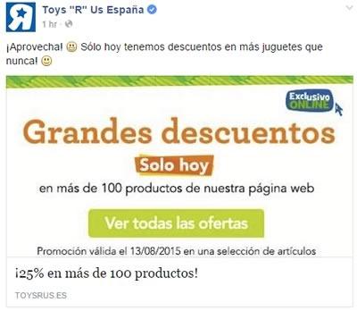 toys r us descuentos 25 por ciento menos 13 agosto 2015