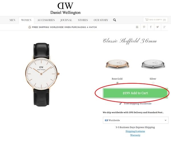 tutorial comprar relojes tienda online daniel wellington - 02