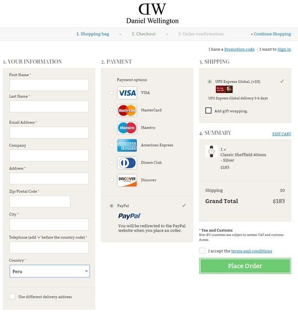 tutorial comprar relojes tienda online daniel wellington - 05