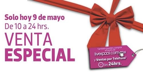 venta especial liverpool dia de la madre 2014