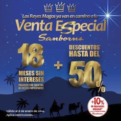 venta especial sanborns reyes magos 2014