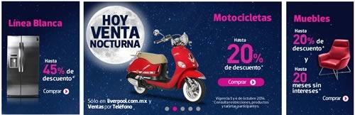 venta nocturna liverpool 3 y 4 de octubre 2014