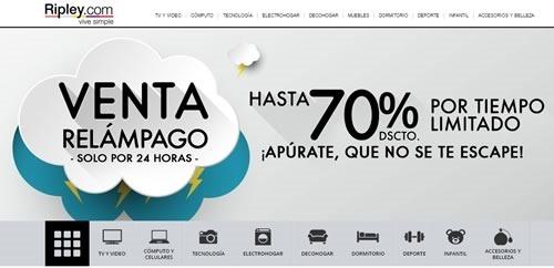venta relampago ripley hoy viernes 6 marzo 2015