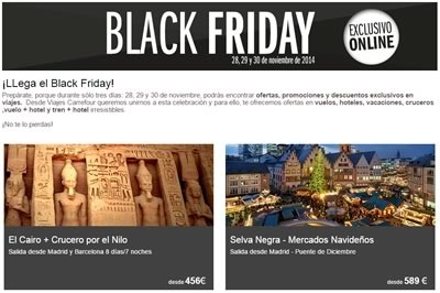 viajes black friday 2014 espana en carrefour