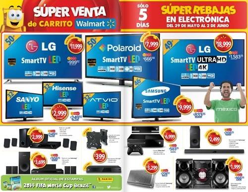 walmart 5 dias super rebajas de electronica 29 mayo al 2 junio 2014 - ofertas