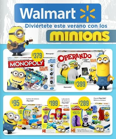 Walmart Mexico Catalogo De Minions Julio 2015