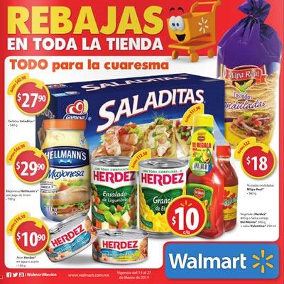 walmart mexico catalogo rebajas cuaresma marzo 2014