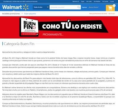 walmart mexico ofertas buen fin 13 a 16 noviembre 2015