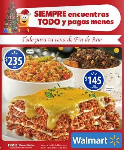 walmart ofertas cenas fin de ano 2014 mexico