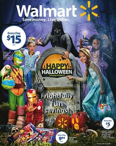 walmart usa catalogo halloween 2015