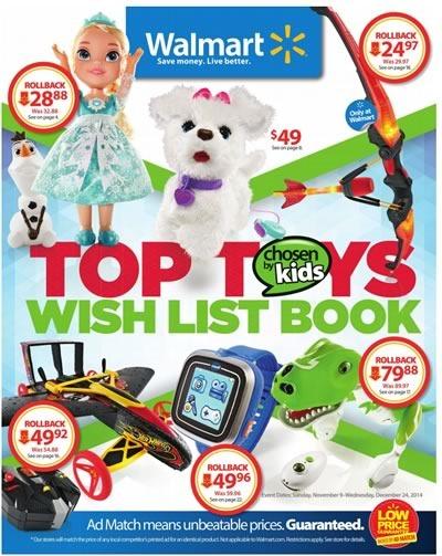walmart usa catalogo juguetes navidad 2014
