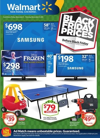 walmart usa catalogo pre black friday 2014