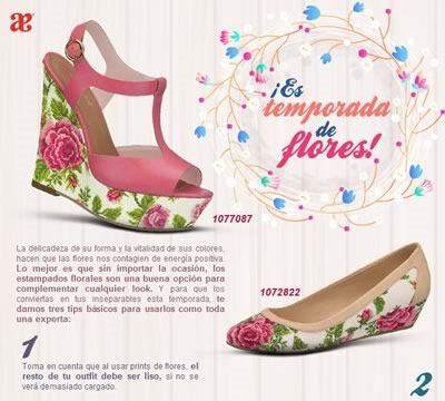 zapatos estampados flores andrea verano 2014