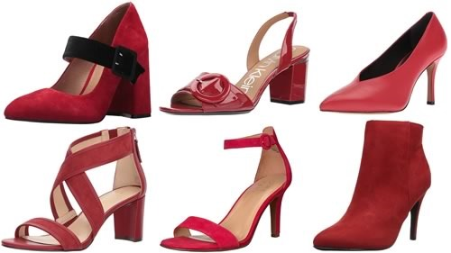 zapatos rojos moda 2018